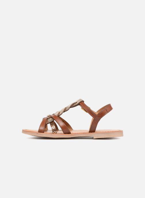 Sandales et nu-pieds Les Tropéziennes par M Belarbi Badami Marron vue face
