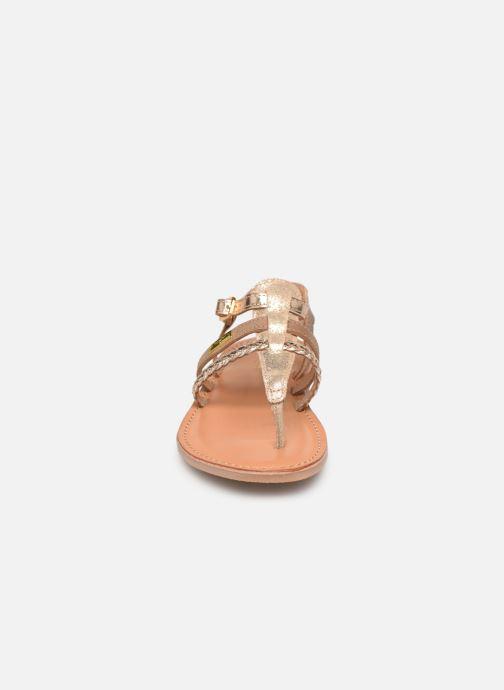 Sandales et nu-pieds Les Tropéziennes par M Belarbi Barmi Or et bronze vue portées chaussures