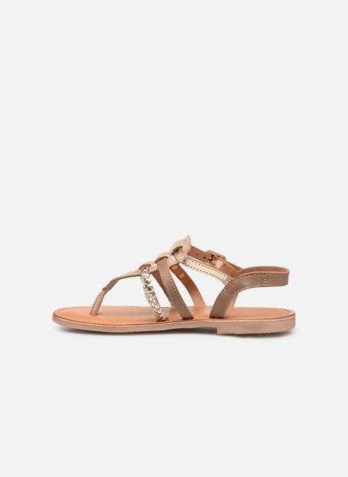 Sandales et nu-pieds Les Tropéziennes par M Belarbi Barmi Or et bronze vue face