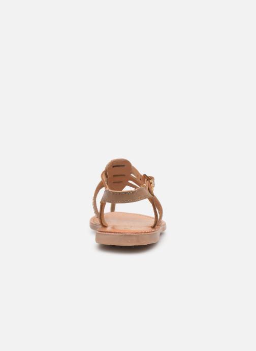 Sandalias Les Tropéziennes par M Belarbi Barmi Oro y bronce vista lateral derecha