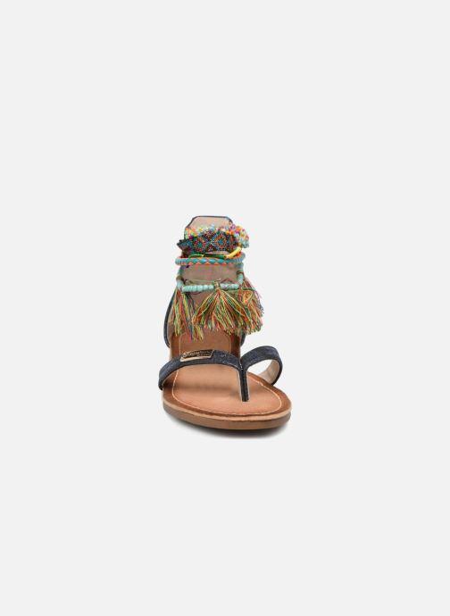 Sandales et nu-pieds Les Tropéziennes par M Belarbi Gringa Bleu vue portées chaussures