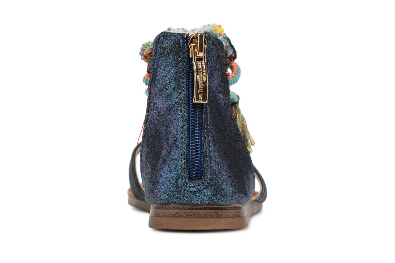 Sandales et nu-pieds Les Tropéziennes par M Belarbi Gringa Bleu vue droite