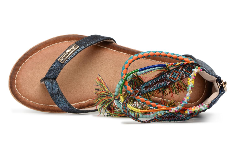 Sandales et nu-pieds Les Tropéziennes par M Belarbi Gringa Bleu vue gauche
