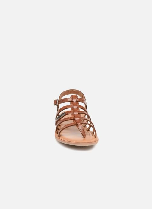 Sandales et nu-pieds Les Tropéziennes par M Belarbi Hirson Marron vue portées chaussures