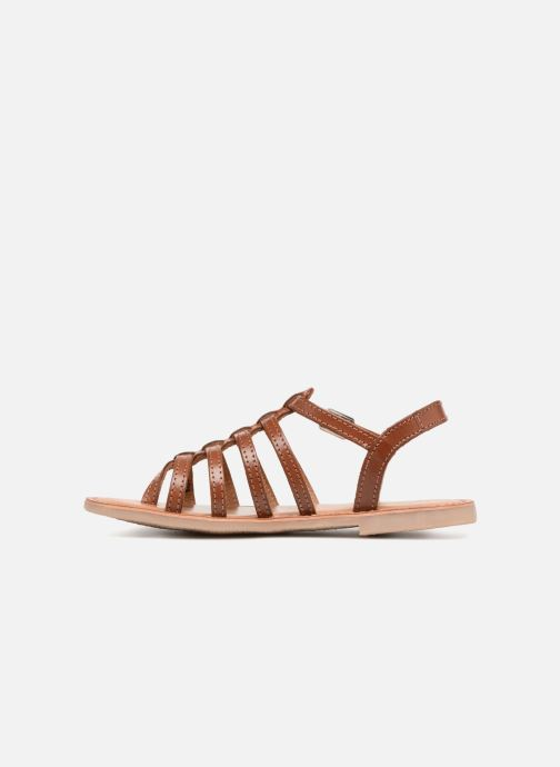 Sandales et nu-pieds Les Tropéziennes par M Belarbi Hirson Marron vue face