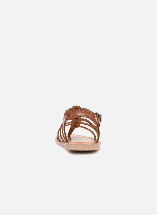 Sandales et nu-pieds Les Tropéziennes par M Belarbi Hirson Marron vue droite