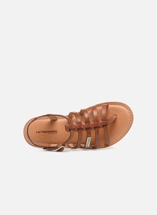 Sandales et nu-pieds Les Tropéziennes par M Belarbi Hirson Marron vue gauche