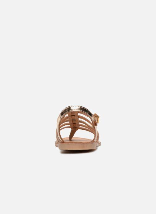 Sandales et nu-pieds Les Tropéziennes par M Belarbi Hirson Or et bronze vue droite