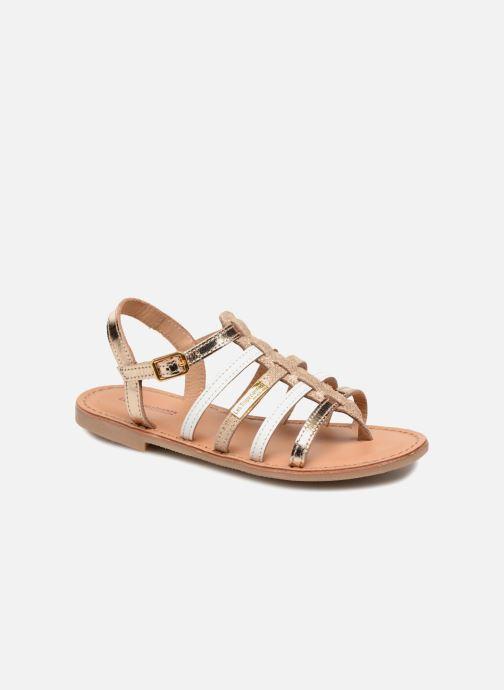Sandales et nu-pieds Les Tropéziennes par M Belarbi Hirson Or et bronze vue détail/paire