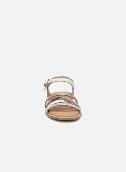 Sandales et nu-pieds Les Tropéziennes par M Belarbi Irene Argent vue portées chaussures