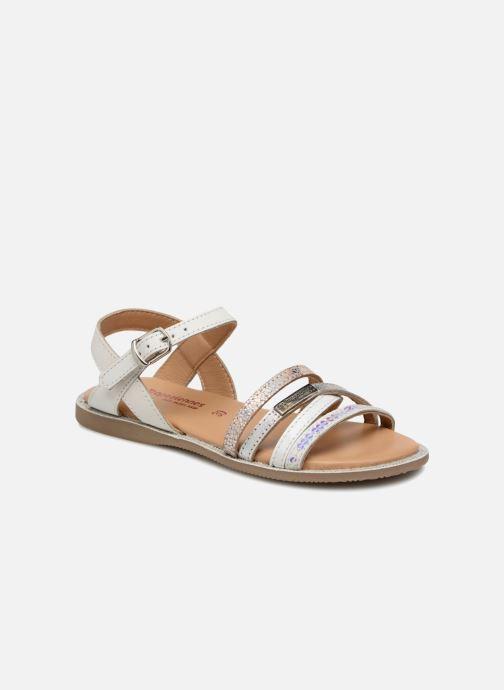 Sandales et nu-pieds Les Tropéziennes par M Belarbi Irene Argent vue détail/paire