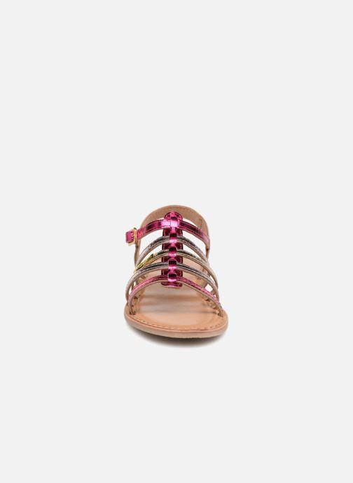 Sandales et nu-pieds Les Tropéziennes par M Belarbi Mongue Rose vue portées chaussures