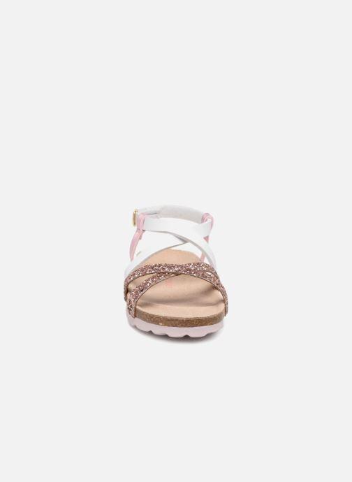 Sandales et nu-pieds Les Tropéziennes par M Belarbi Plouf Rose vue portées chaussures