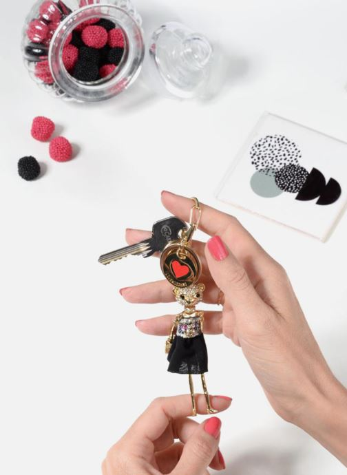 Kleine lederwaren Love Moschino Porte-clés Poupée Goud en brons onder