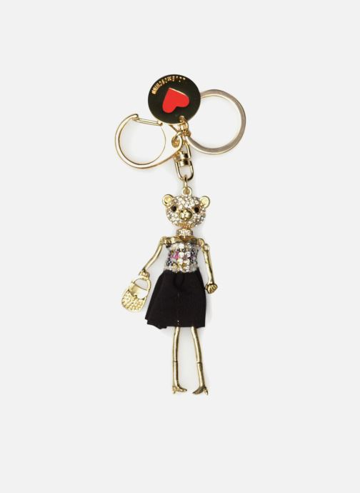 Kleine lederwaren Love Moschino Porte-clés Poupée Goud en brons detail