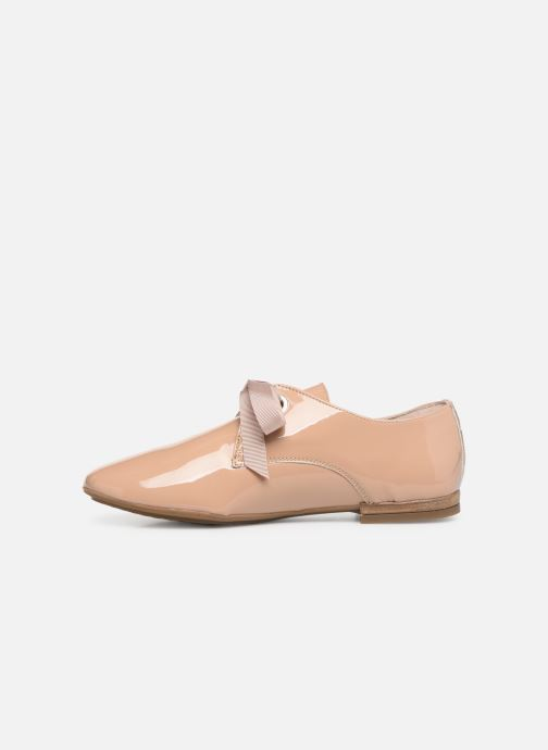 Zapatos con cordones Georgia Rose Astral Beige vista de frente