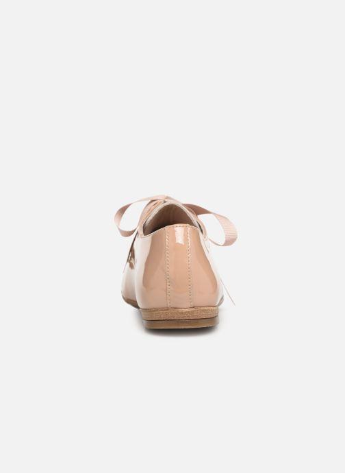 Zapatos con cordones Georgia Rose Astral Beige vista lateral derecha