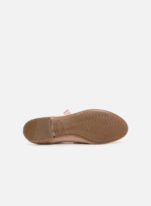 Zapatos con cordones Georgia Rose Astral Beige vista de arriba