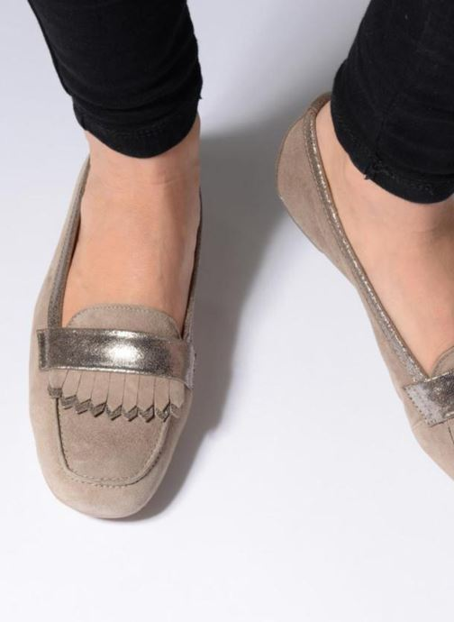 Loafers Georgia Rose Acacia soft Blue view from underneath / model view