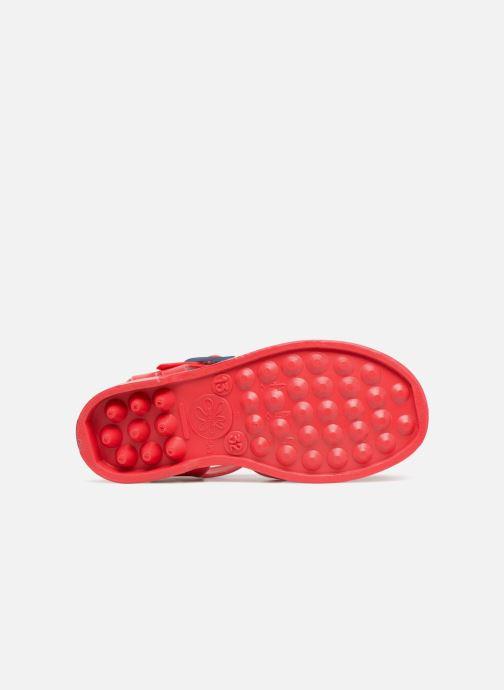 Sandales et nu-pieds Méduse Sunray Rouge vue haut