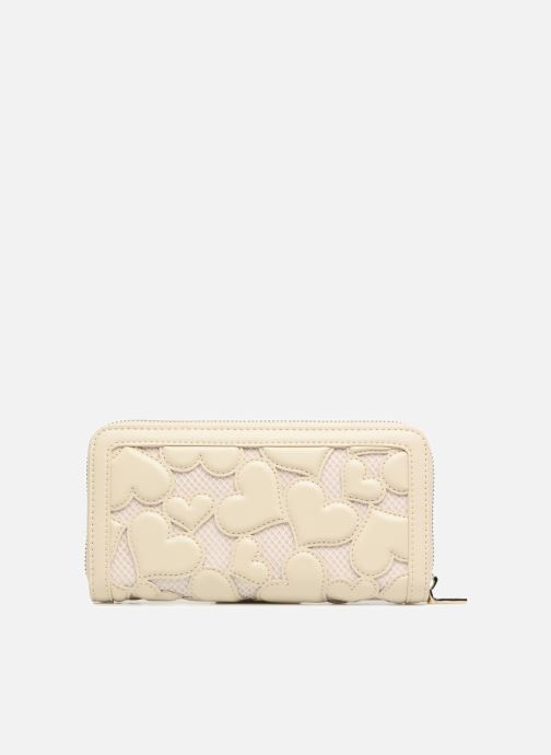 Petite Maroquinerie Love Moschino Portefeuille Love Intarsia Blanc vue face