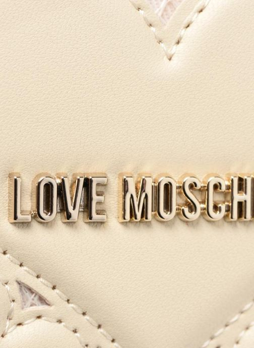 Petite Maroquinerie Love Moschino Portefeuille Love Intarsia Blanc vue gauche