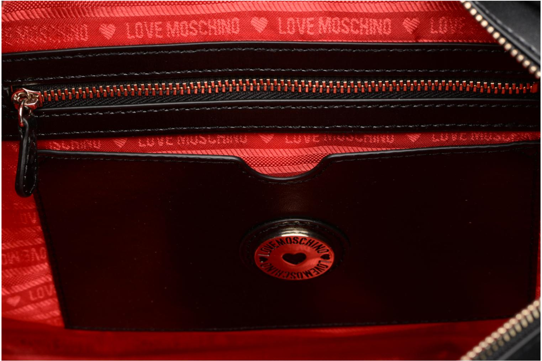 Sacs à main Love Moschino Cabas Zippé Love Intarsia Noir vue derrière