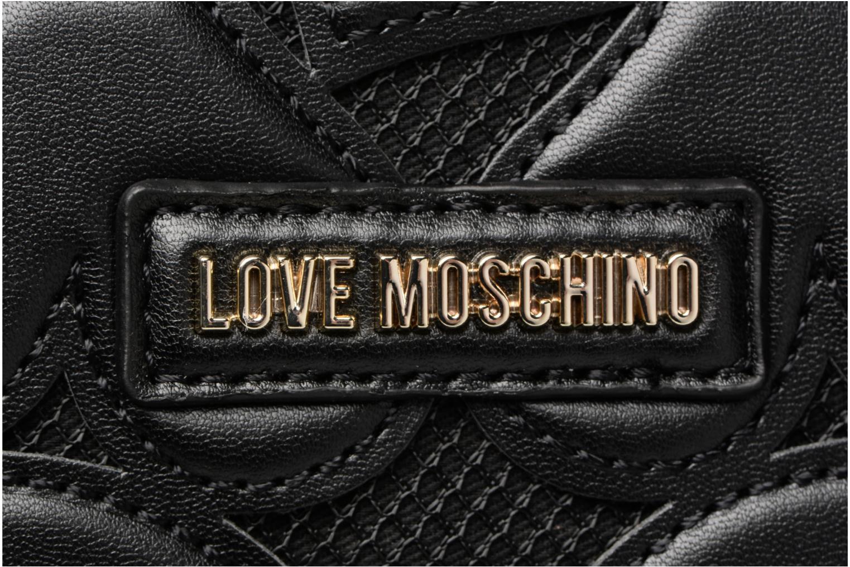 Sacs à main Love Moschino Cabas Zippé Love Intarsia Noir vue gauche