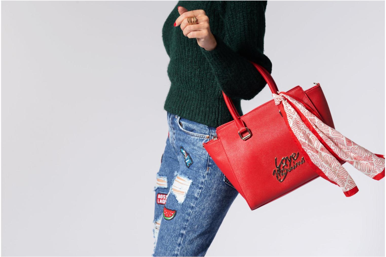 Sacs à main Love Moschino Porté main Love Moschino Logo Rouge vue haut
