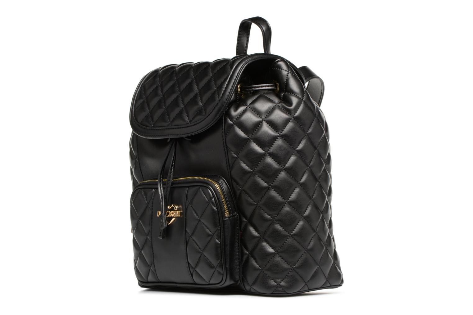 Quilted Moschino Love Super BLACK à dos Sac 0000 Xdgqdw