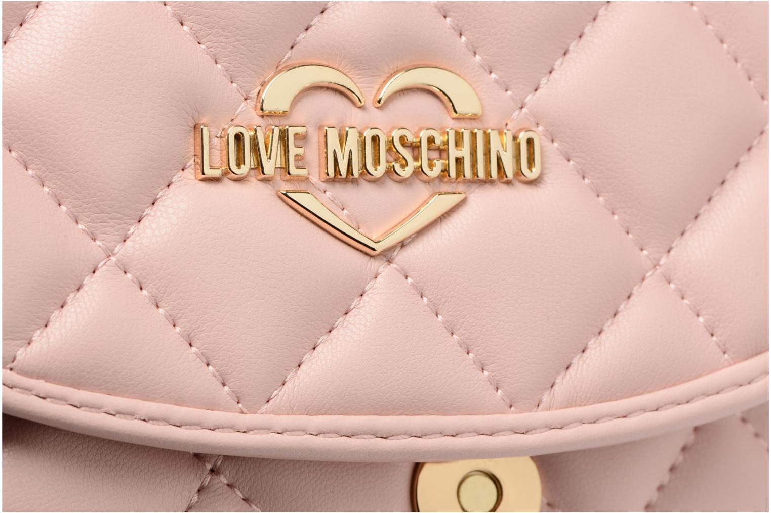 Sacs à main Love Moschino Crossbody Super Quilted Rose vue gauche
