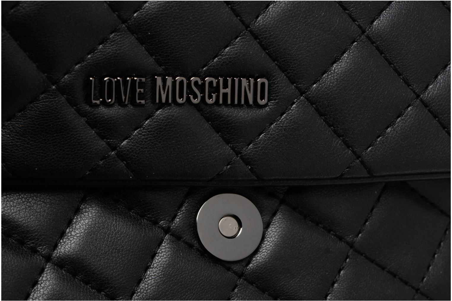 Sacs à main Love Moschino Evening Bag Chaine Quilted Noir vue gauche