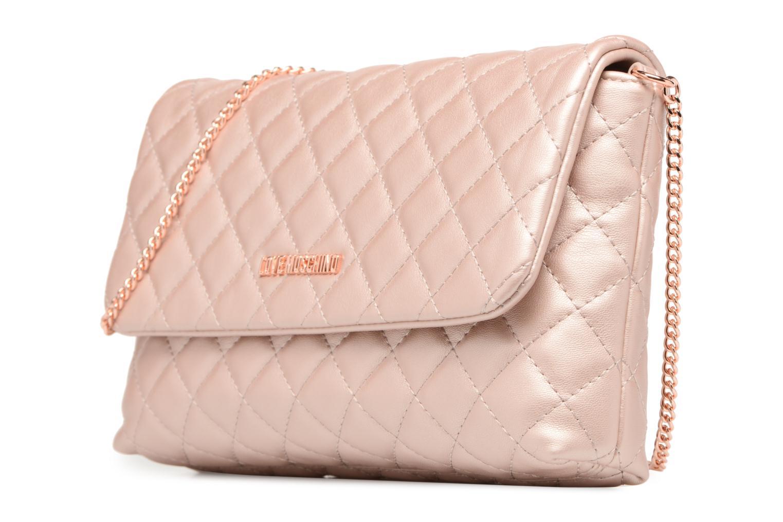 Borse Love Moschino Evening Bag Chaine Quilted Rosa modello indossato
