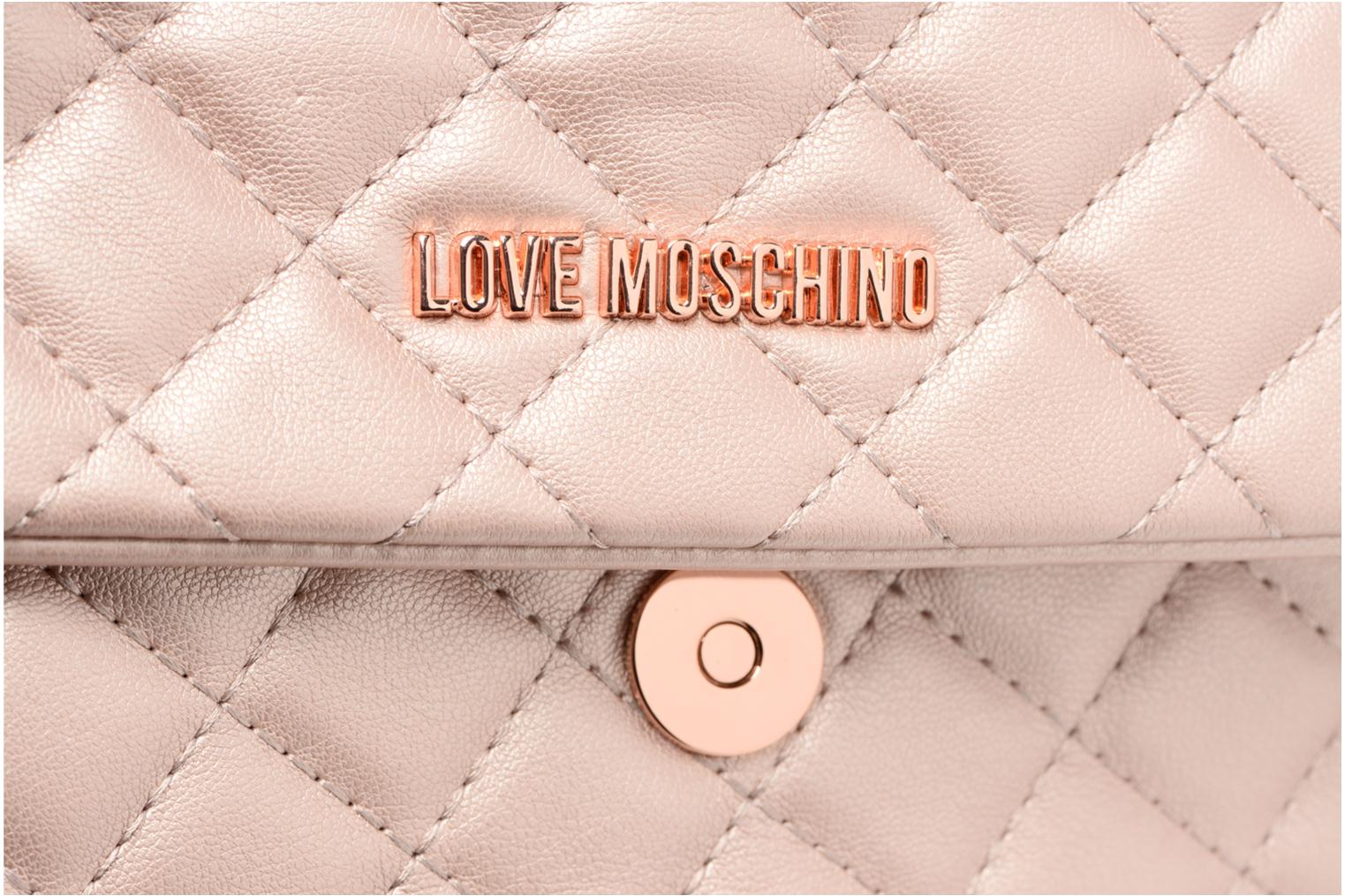 Borse Love Moschino Evening Bag Chaine Quilted Rosa immagine sinistra