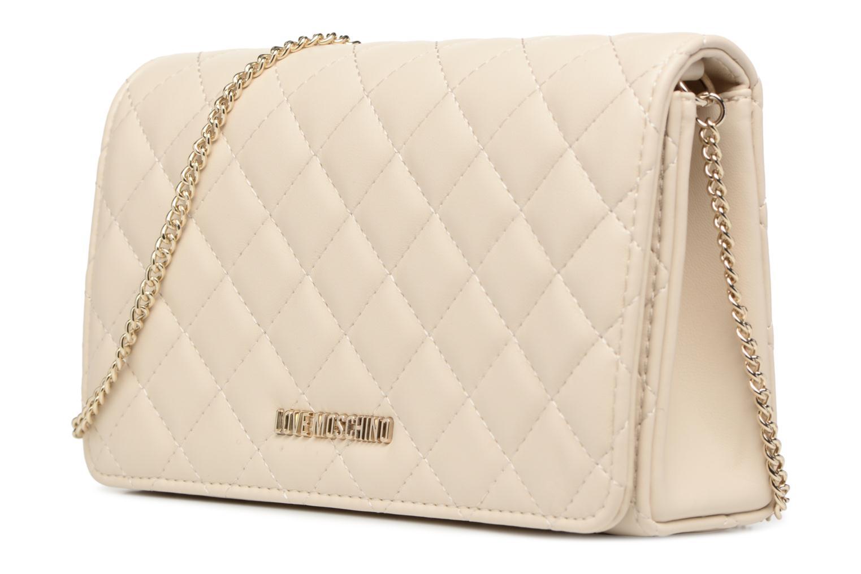 Borse Love Moschino Evening Bag Chaine Quilted Bianco modello indossato