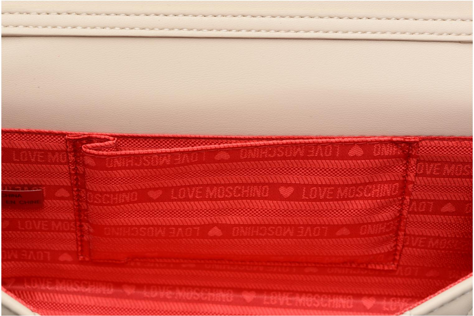 Borse Love Moschino Evening Bag Chaine Quilted Bianco immagine posteriore