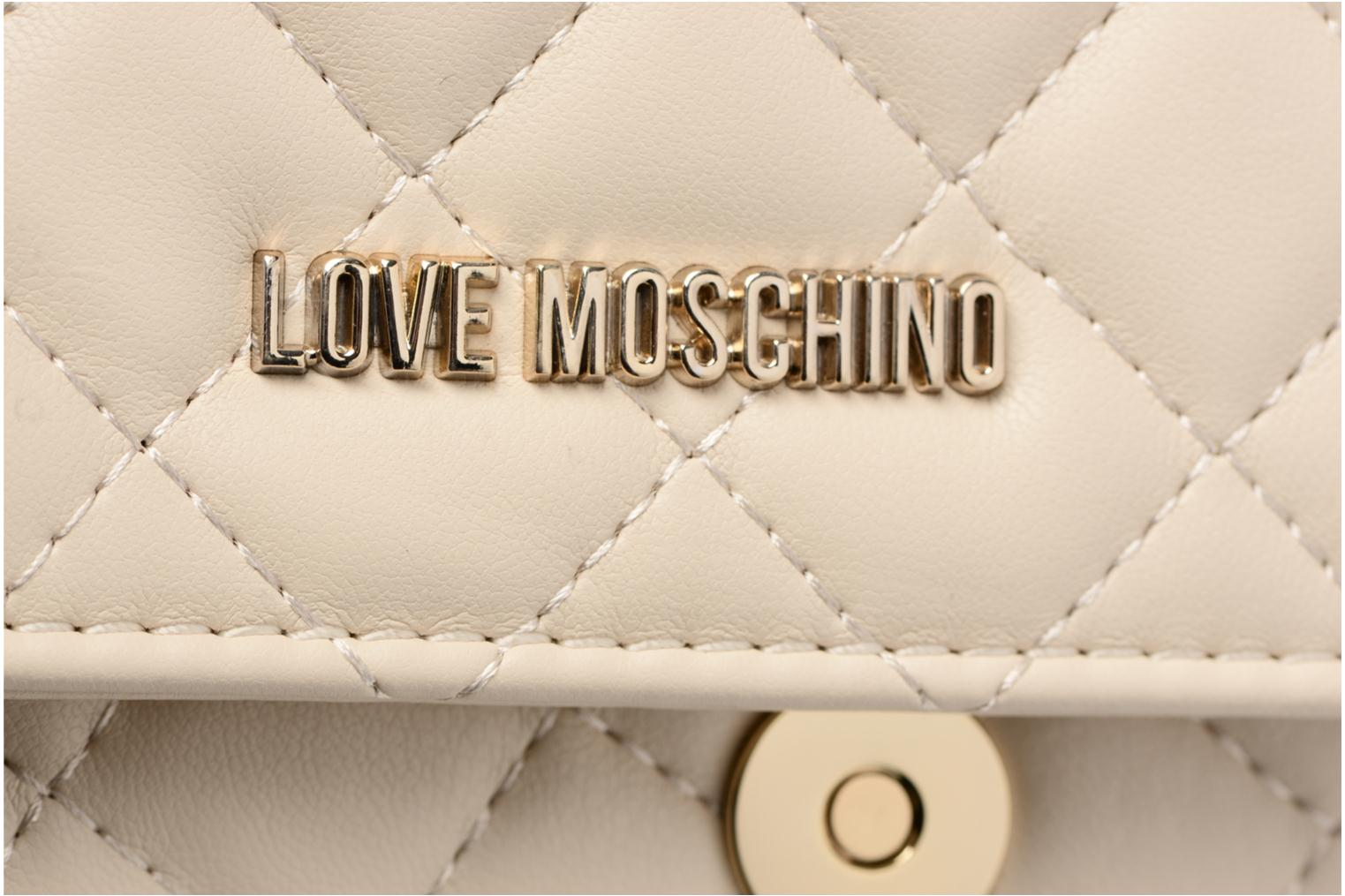 Borse Love Moschino Evening Bag Chaine Quilted Bianco immagine sinistra