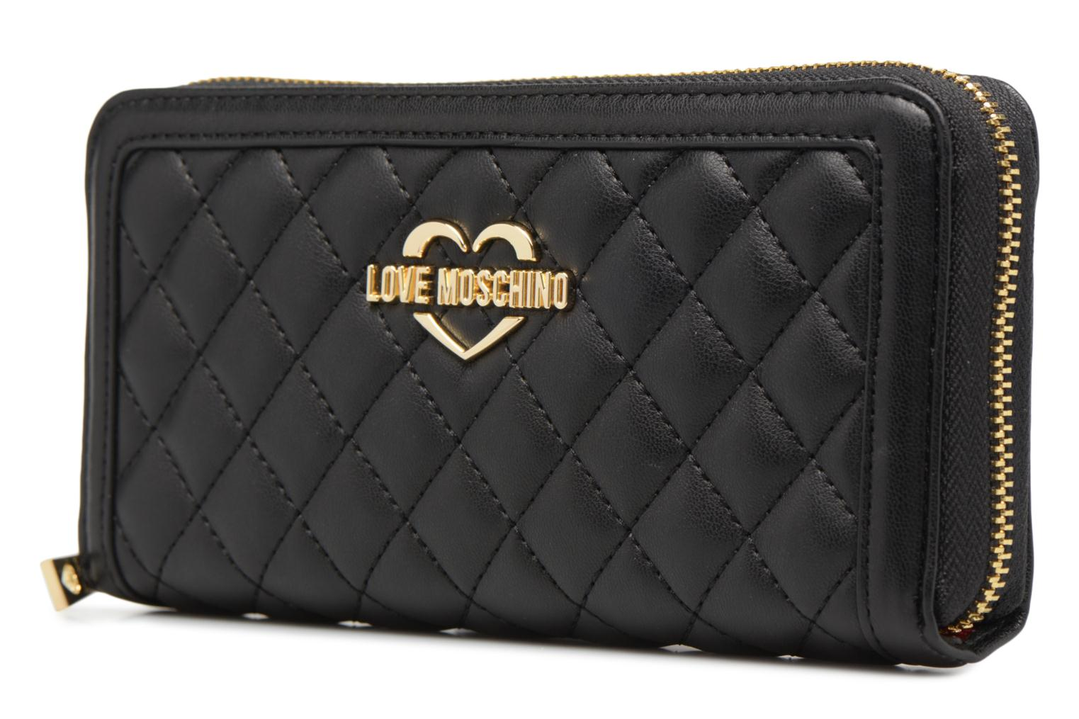 Petite Maroquinerie Love Moschino Portefeuille Super Quilted Noir vue portées chaussures