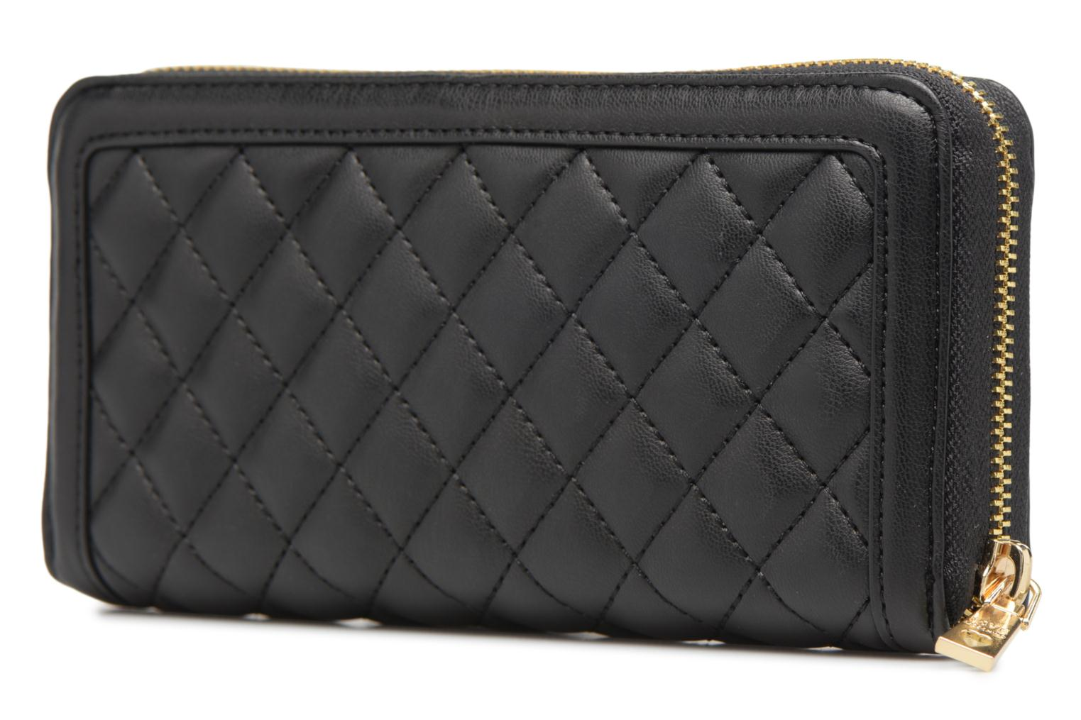 Petite Maroquinerie Love Moschino Portefeuille Super Quilted Noir vue droite