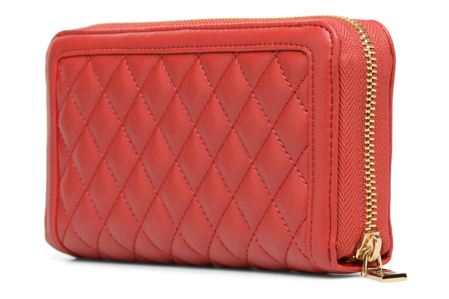 Pelletteria Love Moschino Portefeuille Super Quilted Rosso immagine destra