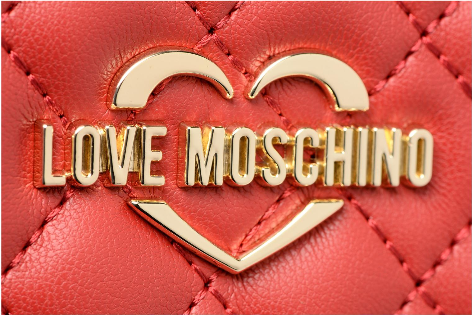 Pelletteria Love Moschino Portefeuille Super Quilted Rosso immagine sinistra