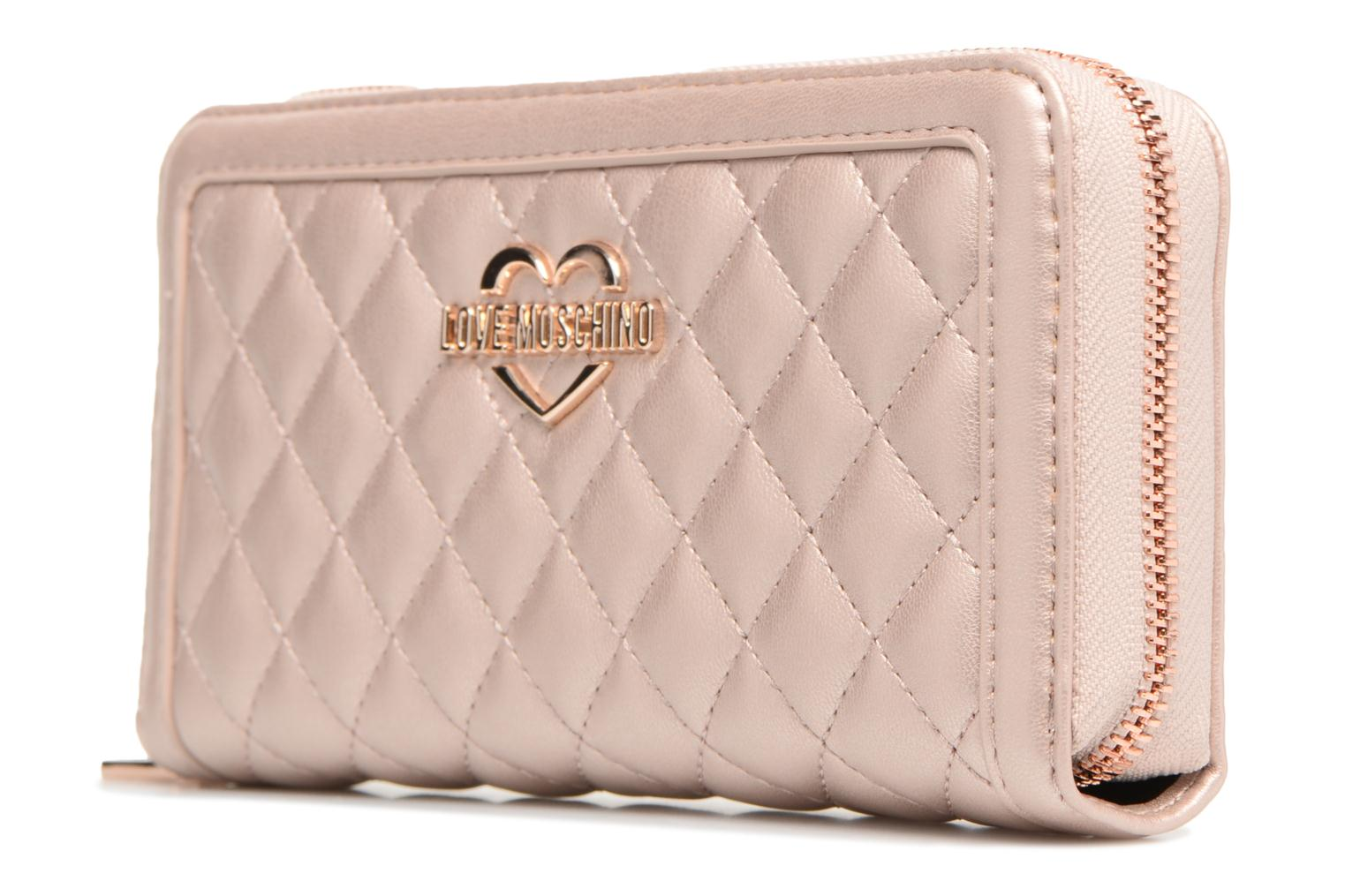 Moschino Portefeuille Love Super 905 COPPER Quilted pdcqcaw5