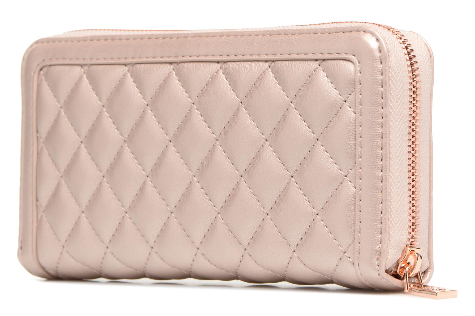 Pelletteria Love Moschino Portefeuille Super Quilted Rosa immagine destra