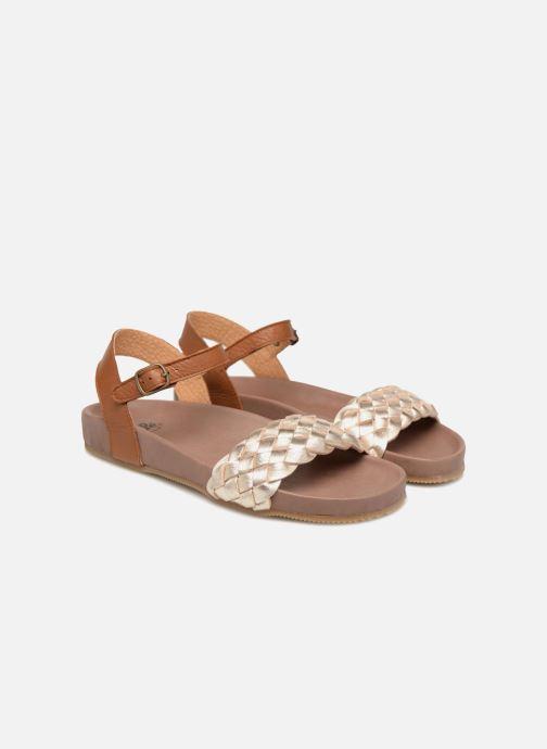 Sandales et nu-pieds PèPè Clara Or et bronze vue 3/4