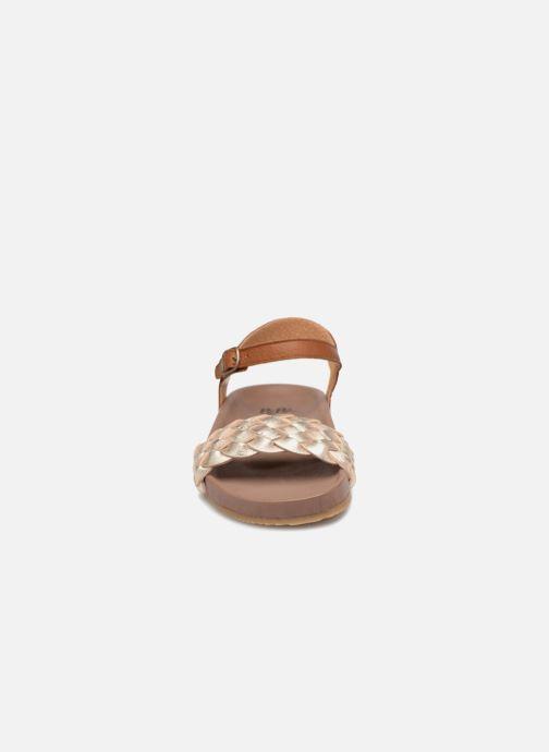 Sandales et nu-pieds PèPè Clara Or et bronze vue portées chaussures