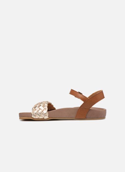 Sandales et nu-pieds PèPè Clara Or et bronze vue face