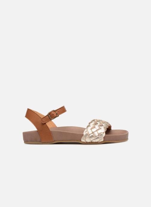Sandales et nu-pieds PèPè Clara Or et bronze vue derrière