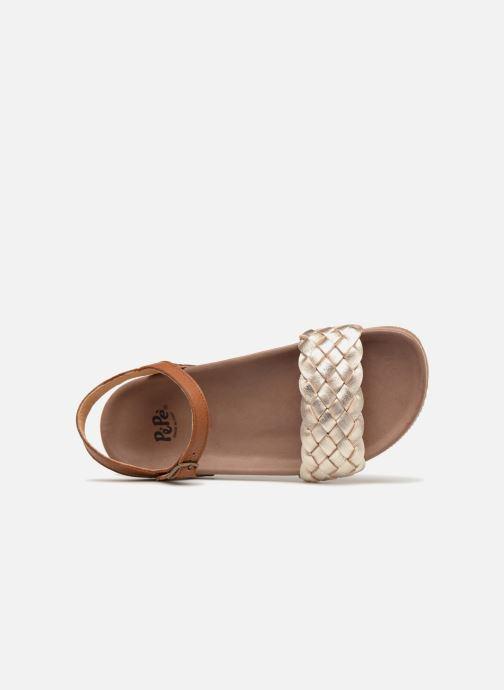 Sandales et nu-pieds PèPè Clara Or et bronze vue gauche