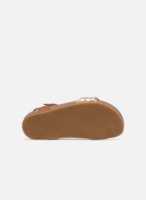 Sandales et nu-pieds PèPè Clara Or et bronze vue haut
