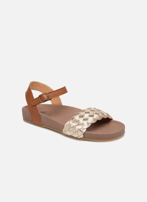 Sandales et nu-pieds PèPè Clara Or et bronze vue détail/paire